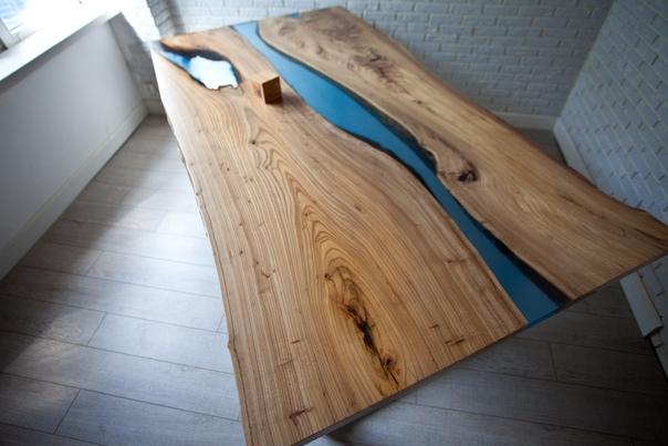 Стол из слэба Карагача «Элм ривер»