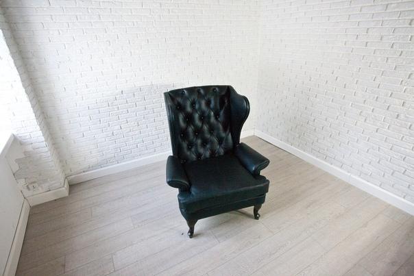 Кресло из натуральной кожи «Нобльман»